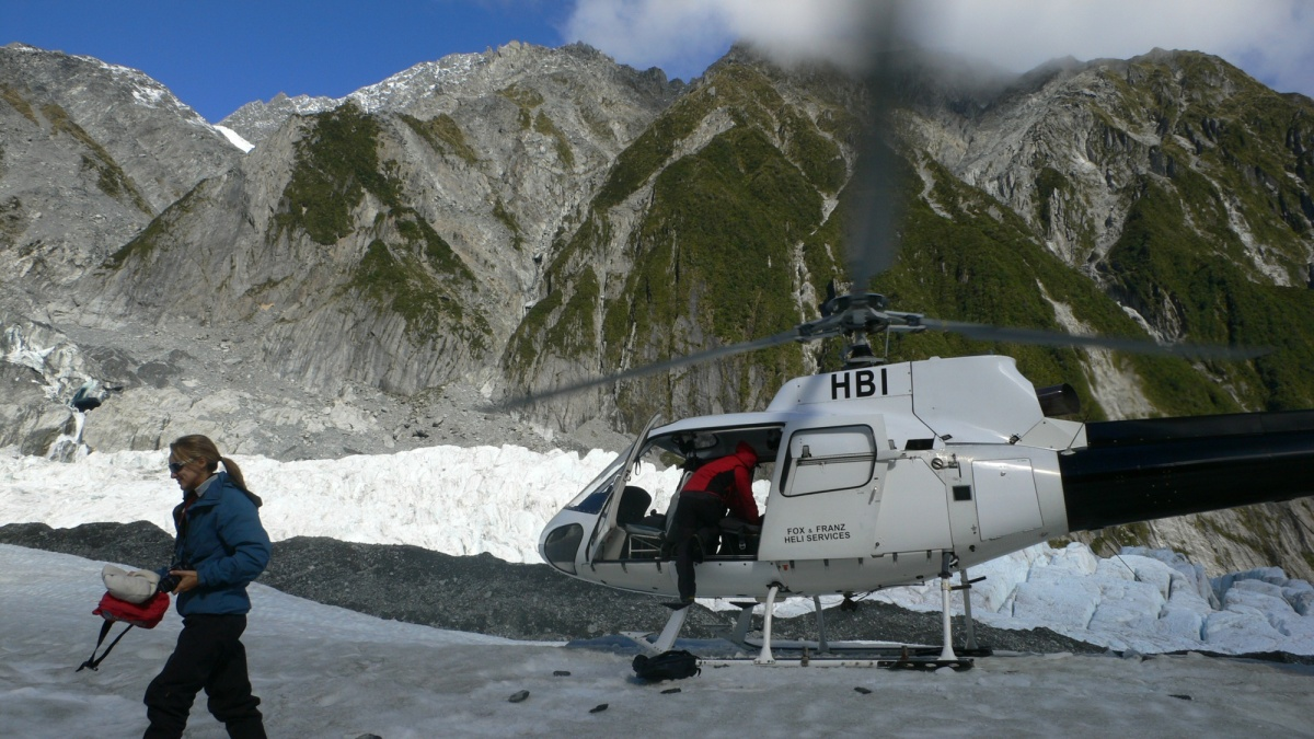 フランツ・ジョゼフ氷河 ヘリハイク1