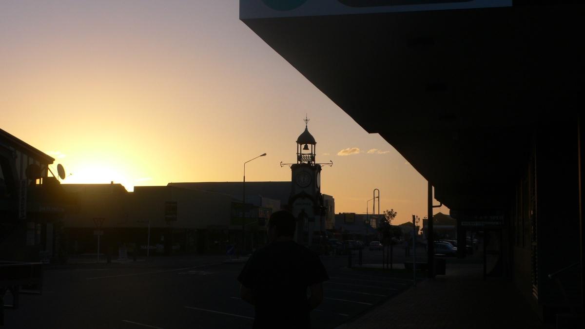 ホキティカで夕日を見る