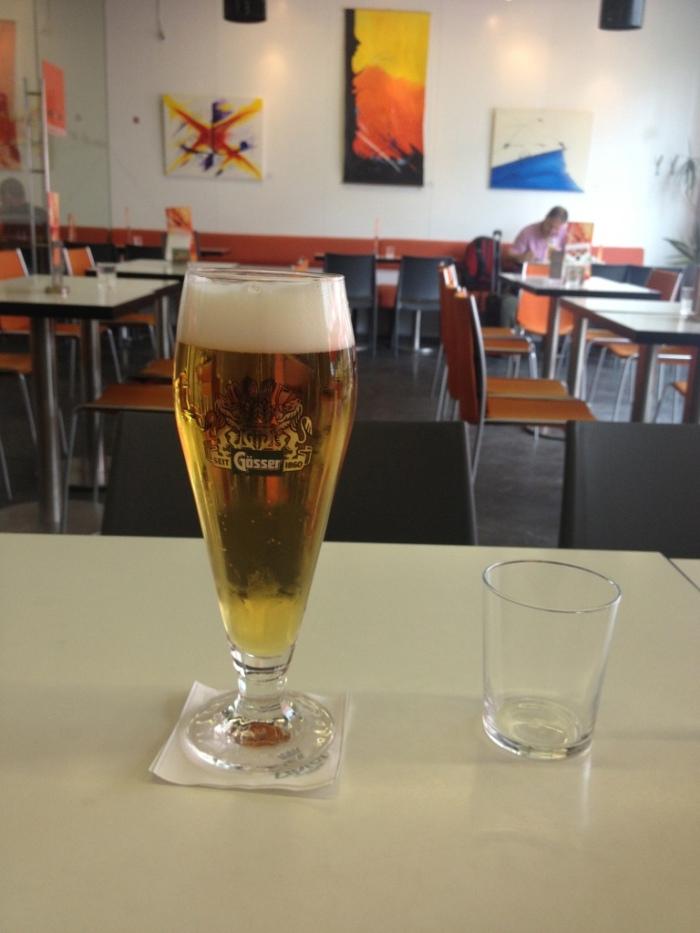 ビールで時間つぶし