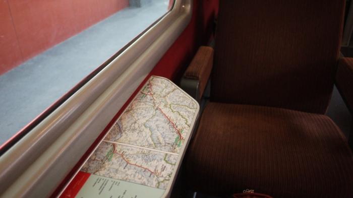 座席の路線図