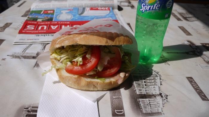 ケバブ屋でハンバーガー