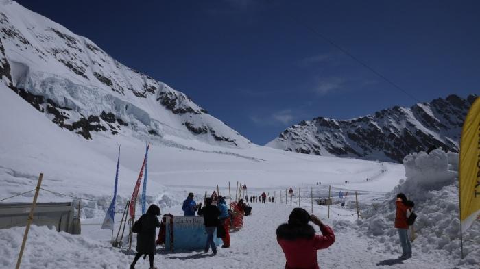 アレッチ氷河のゲレンデ