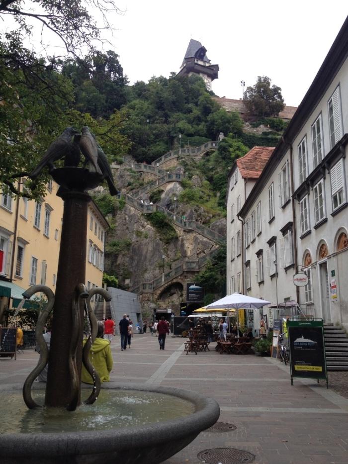 城は山の上